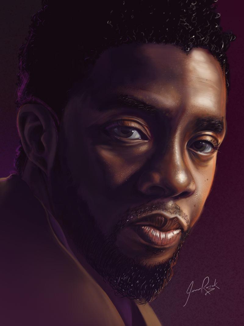 Chadwick Boseman by James Rozak